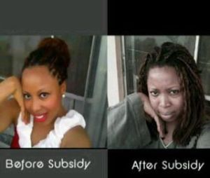 befora and after subsidy