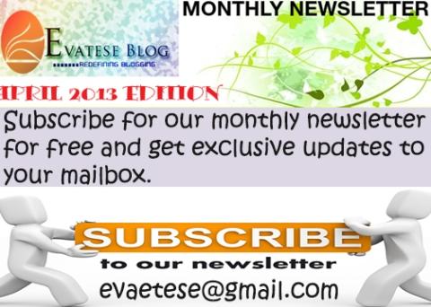 newsletter april advert